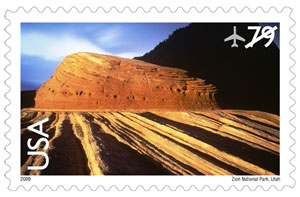 Zion National Park Stamp