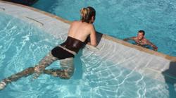 Two-tierred swimming pool - gravity edge at Zion Ponderosa