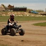 ATV rider at zion ponderosa