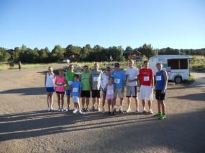 5K Runners at Zion Ponderosa