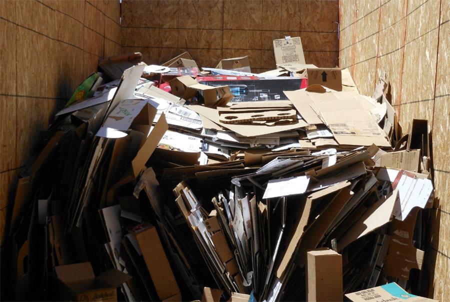 Recycle cardboard bin