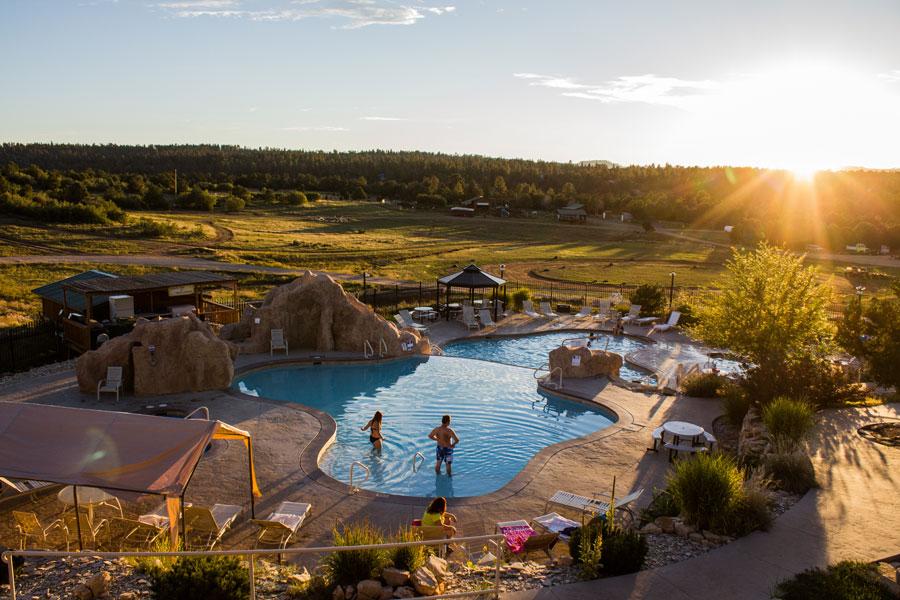 Zion Ponderosa Pool Panorama