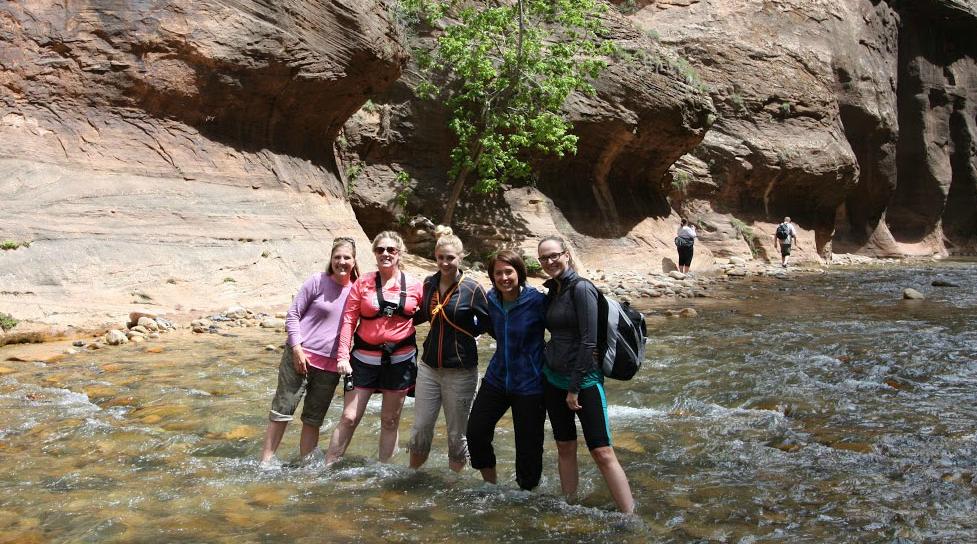 Women's Adventure Retreat The Narrows Zion National Park