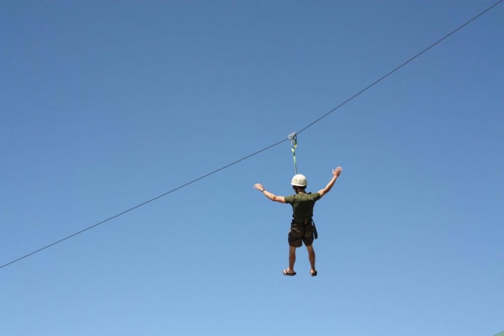 zipline near zion national park