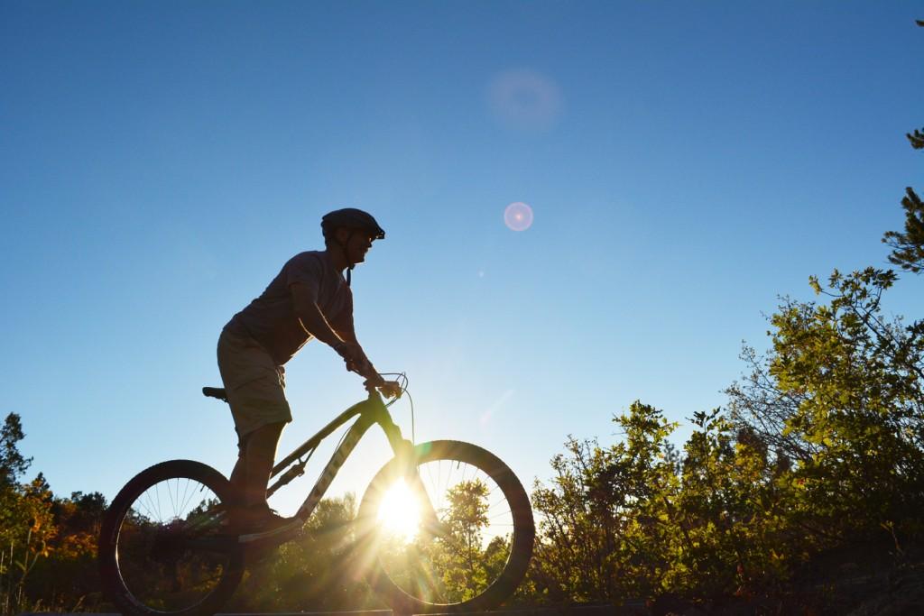 Sunset mountain bike ride over Zion
