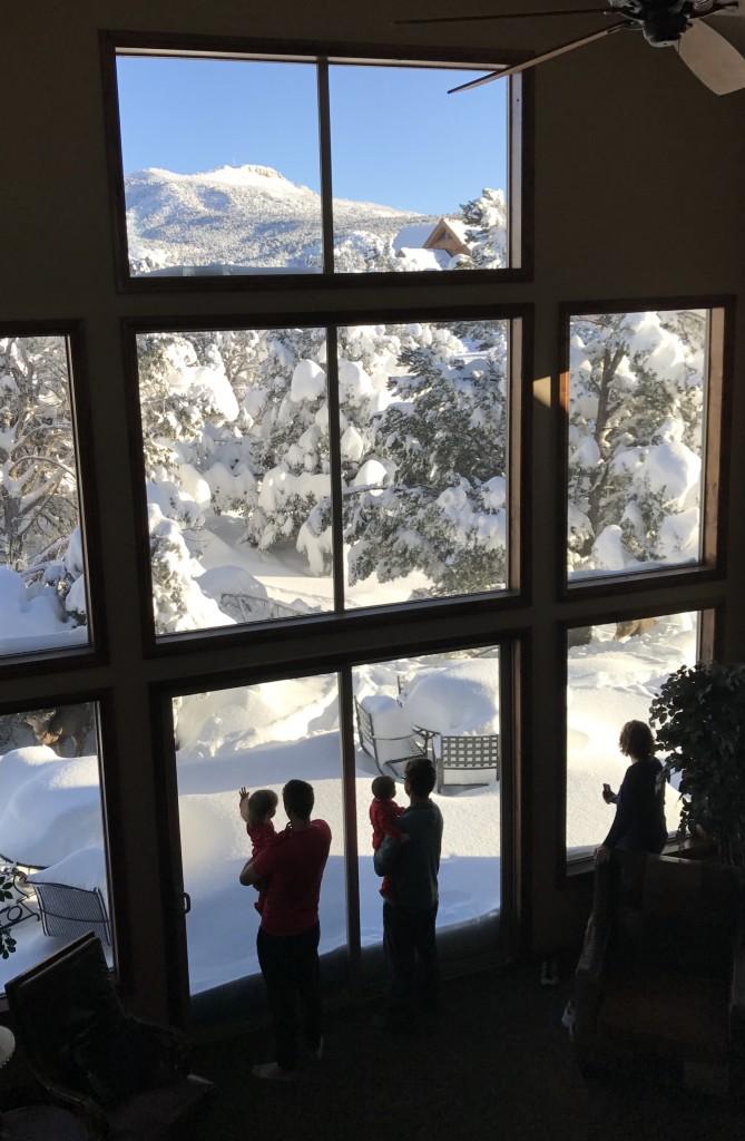 Zion Ponderosa Vacation Home in Winter