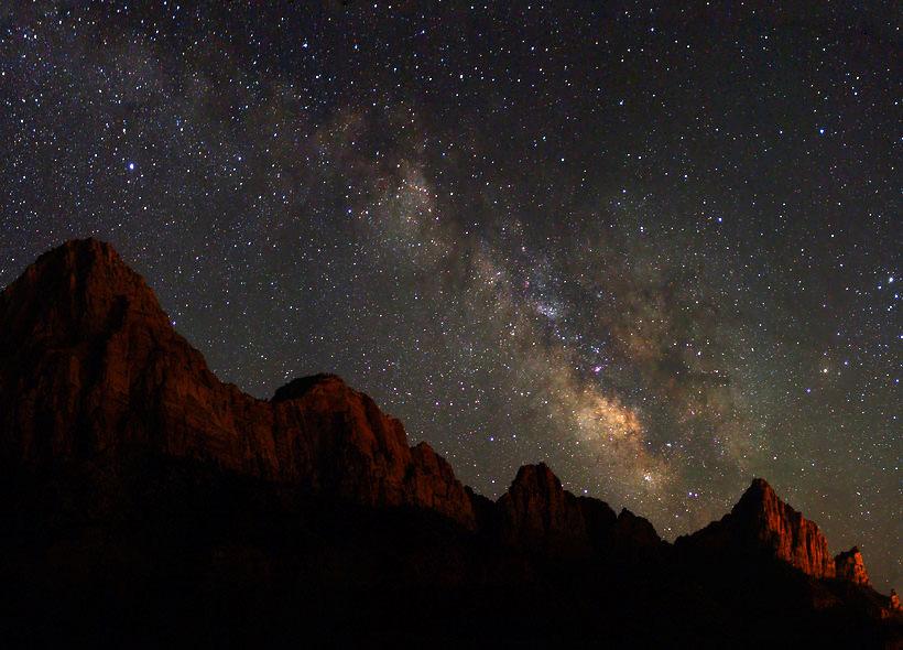 Zion Night Sky Zion Ponderosa Photo Contest