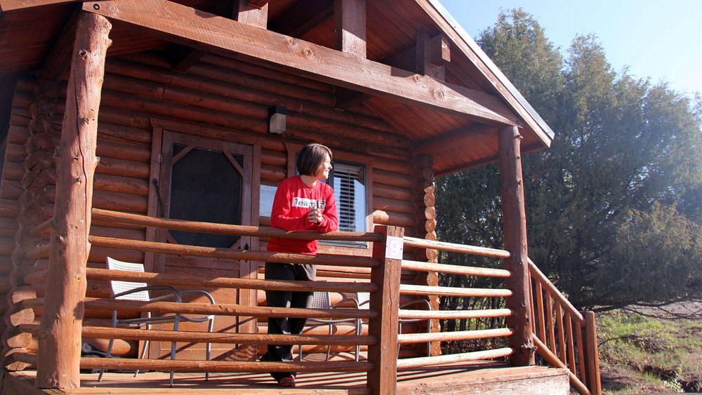Log cabin suite rentals near zion national park zion for Cabins for rent in zion national park