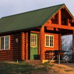 Zion log cabin with outdoor BBQ grill