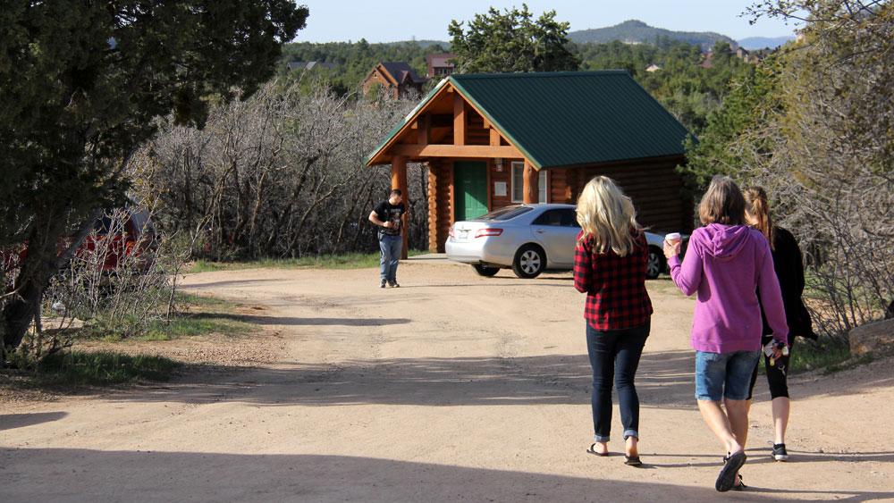 Family vacationing at cowboy cabins near Zion