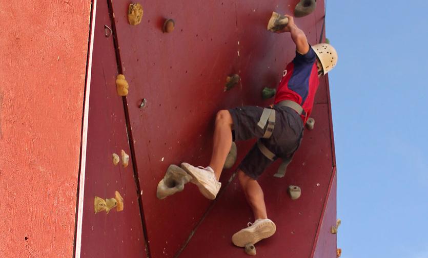 climbing wall adventure