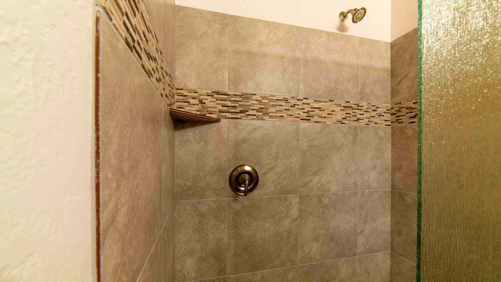 Luxury shower in Zion cabin lodging