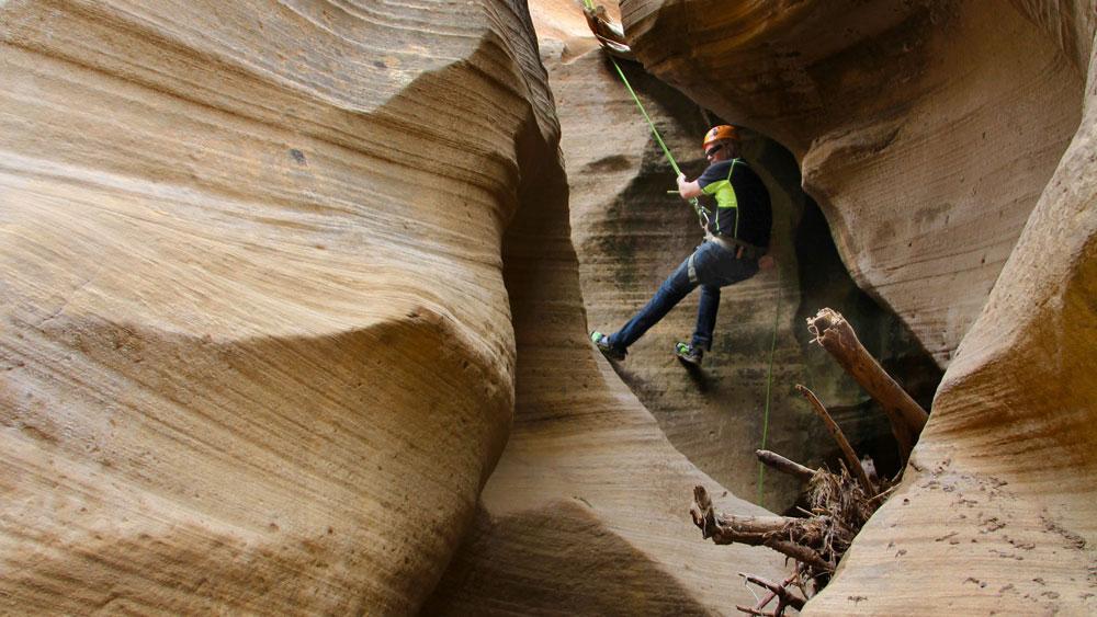 canyoneering adventure near Zion National Park