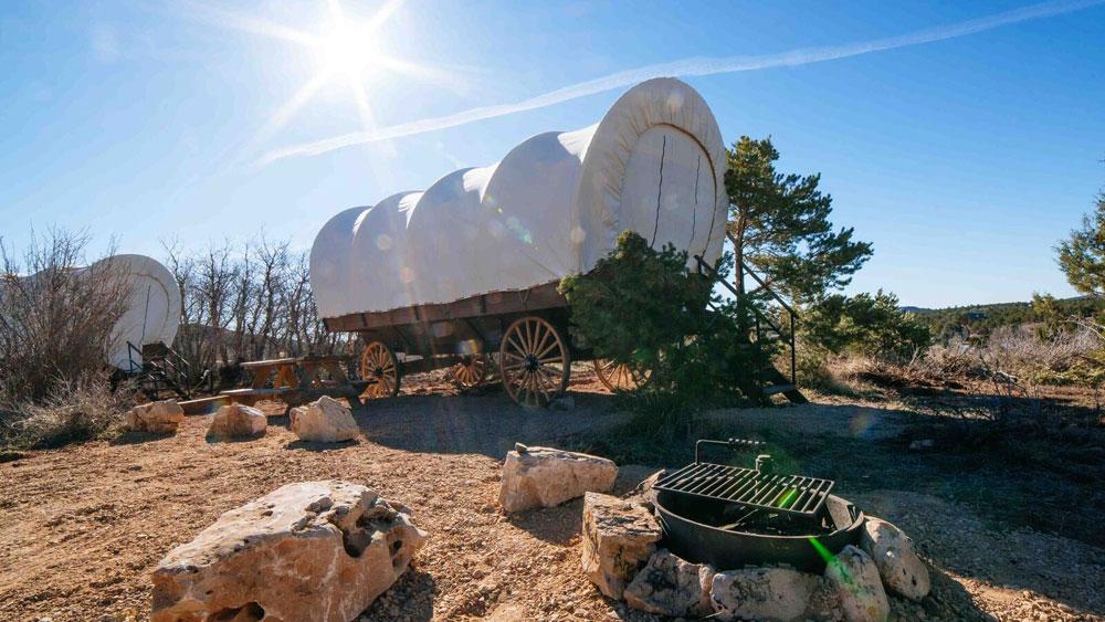 Conestoga Wagon Camping Near Zion National Park Zion