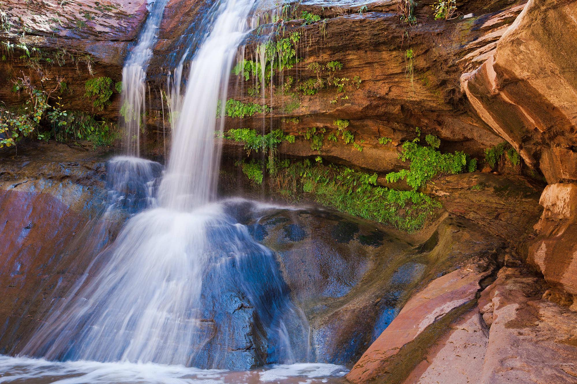 pine creek waterfall zion national park