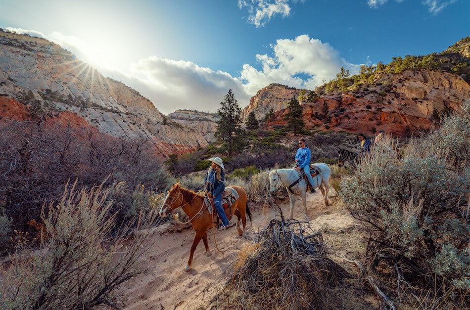 White Mountain horseback slot canyon