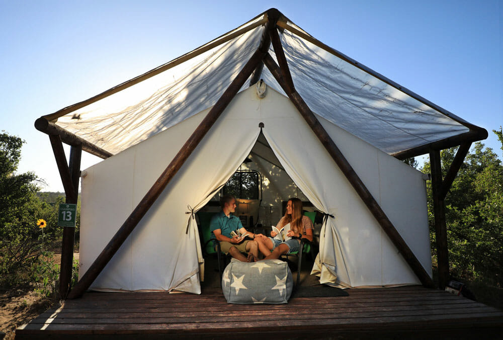 Zion Ponderosa glamping experience gifts for couples