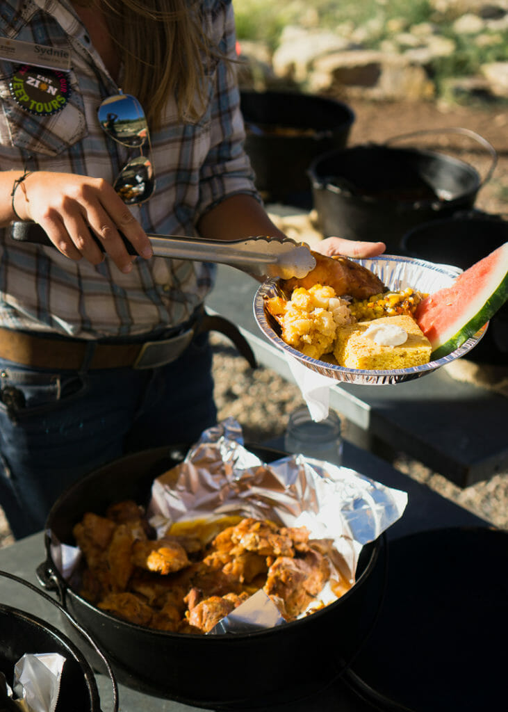 Zion Dutch oven dinner for a taste of the old west