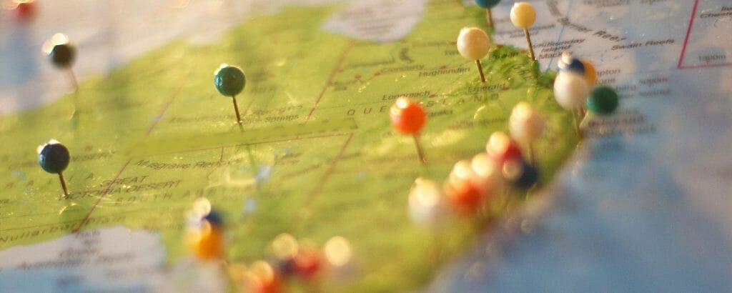 Pinned Map Zion Utah