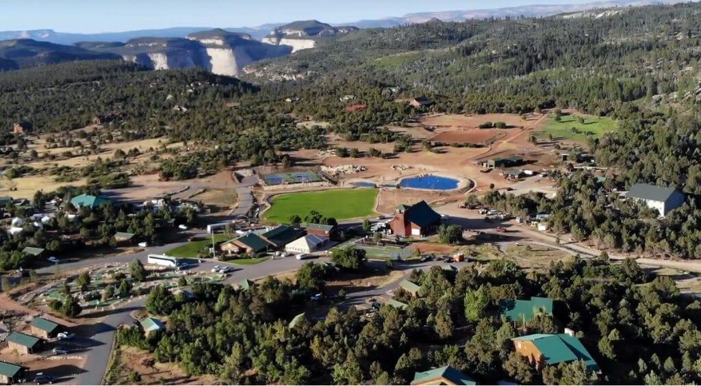 Aerial view of Zion Ponderosa near Zion National Park
