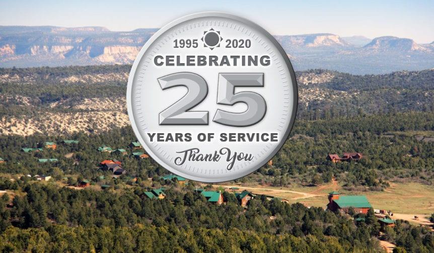 Zion Ponderosa aerial view 25th anniversary