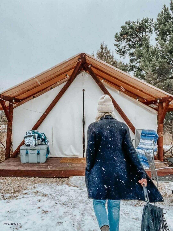 Winter glamping Zion Ponderosa